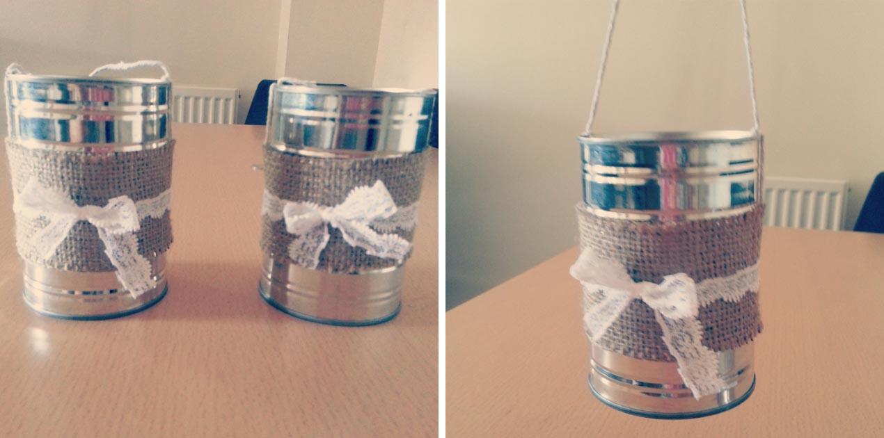 Coffee Can Stilt Decorations
