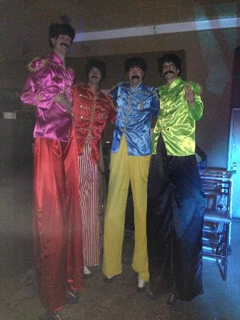 The Beatles Stilt Walkers