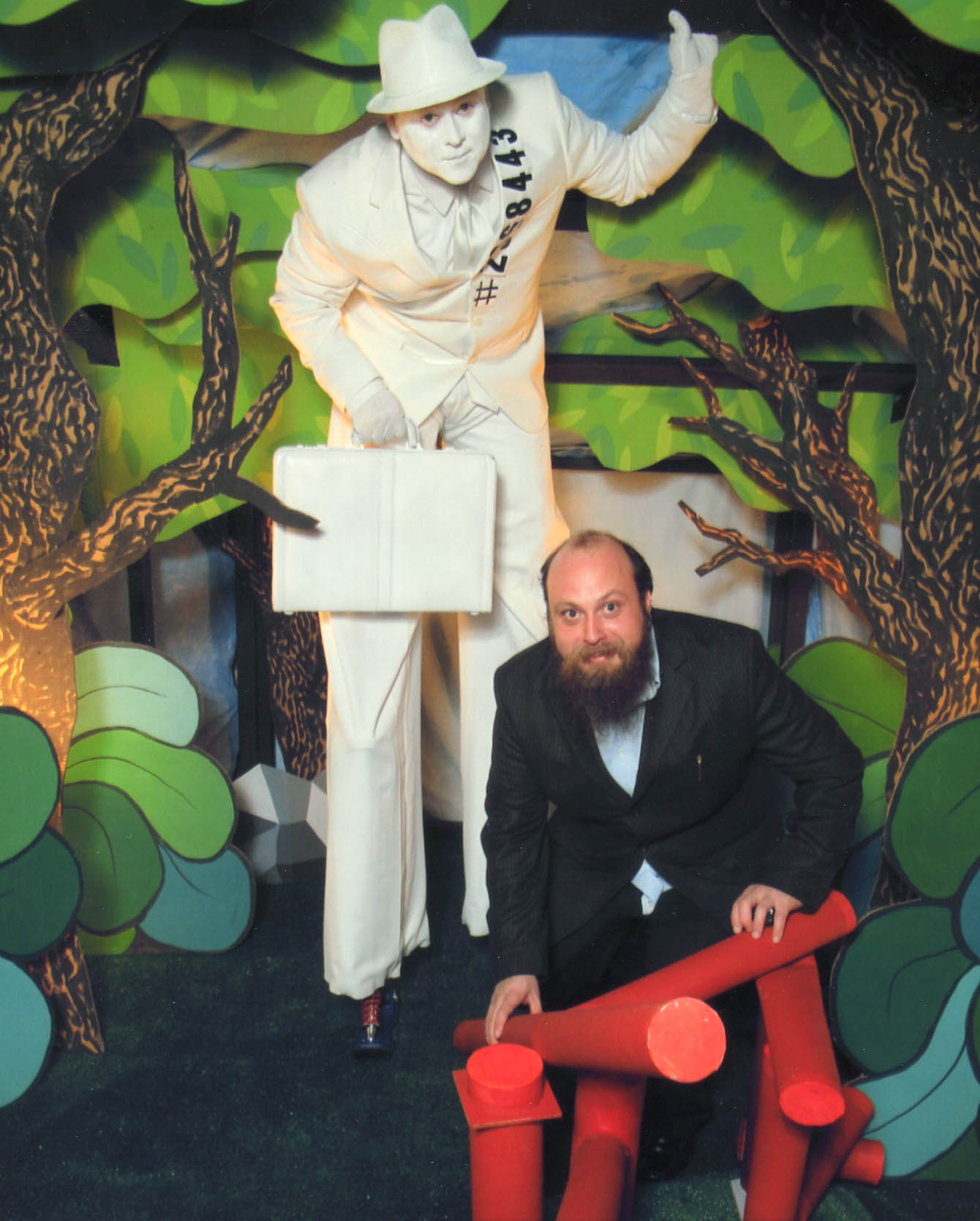 OMG Josh at an art opening
